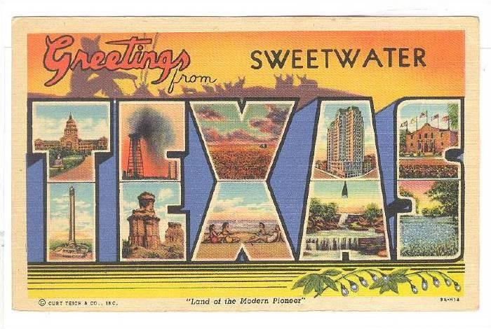 Greetings from Sweetwater, Texas,30-40s