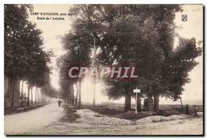 Old Postcard Jet Aviation Camp & # 39aviation near Dijon Route of & # 39aviation