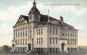 Guthrie Oklahoma Logan High School Street View Antique Postcard K40287