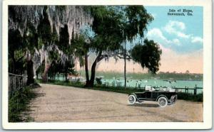 Savannah, Georgia Postcard Isle of Hope Boats in Harbor KROPP c1930s Unused