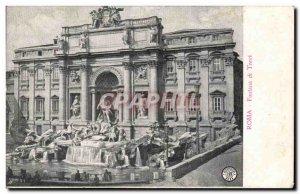 Old Postcard Roma Trevi Fountain