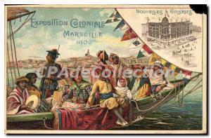 Postcard Old Marseilles Colonial Exhibition 1906 new galleries