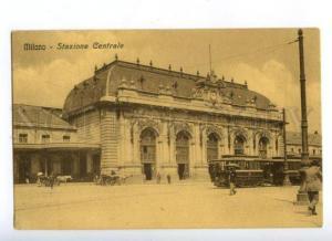 172145 ITALY MILANO Stazione Centrale Station Vintage postcard
