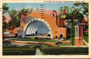Ohio Toledo Outdoor Amphitheatre Toledo Zoo 1958 Curteich