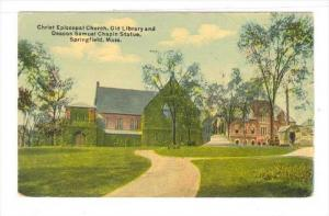 Christ Episcopal Church, Old Library & Deacon Samuel Chapin Statue, Springfie...