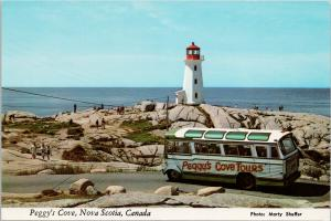 Peggy's Cove Tours Bus Peggy's Cove NS Nova Scotia UNUSED Postcard D94