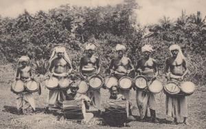 Tom Tom Beaters Ceylon Indian Drummers Antique Postcard