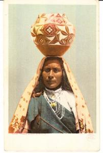 Pueblo Woman with Olla  Unused