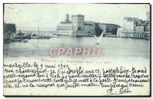 Old Postcard Marseille Fort St John