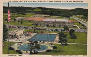 Legion Pool With Civic Auditrium And J Fred Johnson Park In The Background Ki...