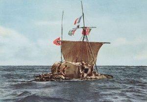 Sailboat Kon-Tiki Expedition 1947 Inside Polynesia Postcard