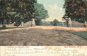 Entrance To Rochelle Park 1906 New Rochelle NY VTG UDB P126