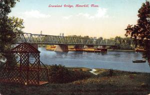 Groveland Bridge, Haverhill, Massachusetts, Early Postcard, Unused