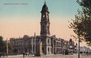 Adelaide Post Office Clock Tower Antique Australia Postcard