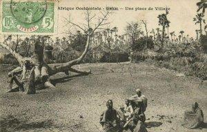 CPA AK Sénégal Afrique Dakar - Fortier - Une place de Village (70478)