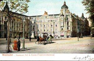 Germany Wiesbaden Nassauer Hof & Kaiser Friedrich Denkmal