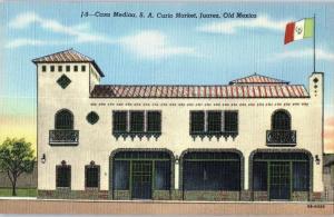 Cas Medina, S.A. Curio Market, Juarez, Old Mexico - Mexican Flag Z20