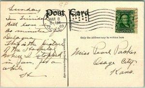 Trinidad, Colorado Postcard ST. RAPHAEL'S HOSPITAL Artist's View / 1909 Cancel