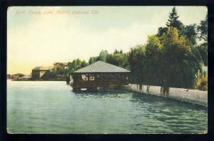 Early Oakland, California/CA Postcard, Boat House On Lake Merritt