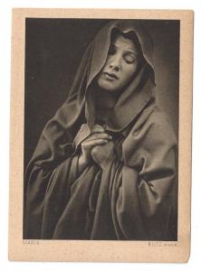 Germany Oberammergau Actress Anna Rutz Maria Mary 1930