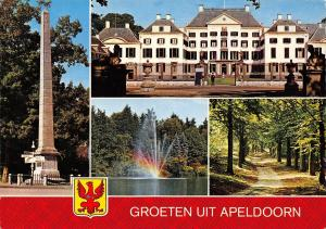 Netherlands Groeten uit Apeldoorn multiviews Forest Lake Monument