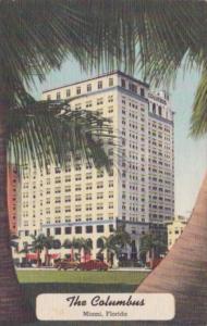 Florida Miami The Clumbus Hotel 1947 Curteich