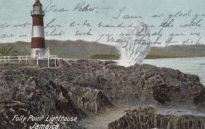Folly Point LIGHTHOUSE , Jamaica , 1906