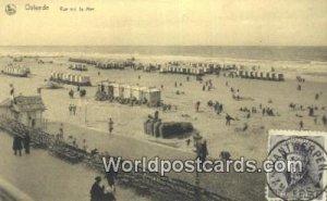 Vue sur la Mer Ostende, Belgium 1920 Stamp on front