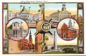 Massachusetts Boston The Hub With Multi View