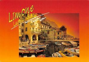 Italy Lago di Garda Limone Angolo Caratteristico Harbour Boats Lake
