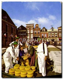 Old Postcard Netherlands Folklore Cheese Merchants
