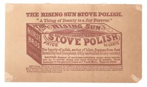 Victorian Trade Card Rising Sun Stove Polish Humor Mrs Sillybillys Purchase