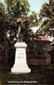 Minnesota Minneapolis Ole Bull-Loring Park Showing Statue and Gazebo