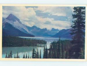 Unused Pre-1980 LAKE SCENE Jasper National Park Alberta AB F3165
