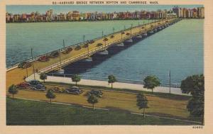 Harvard Bridge between Boston and Cambridge, Massachusetts, 1930-1940s