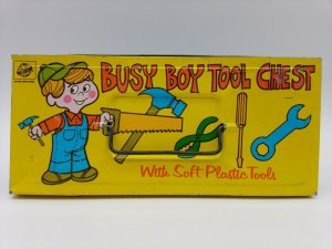 Vintage Collectible Bryan Ohio Art Busy Boy Tool Chest 'no Tools Empty'