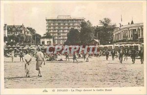 Old Postcard Dinard The Beach in front of the Gallic Hotel