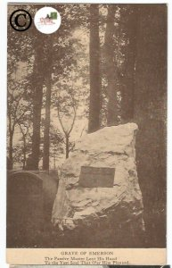 Vintage Postcards Grave Of Emerson The Passive Master Lent His Hand