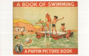 Postage Stamps 1950 Puffin Book Postcard