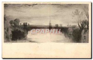 Great Britain Great Britain Postcard Old National gallery Turner Chichester C...
