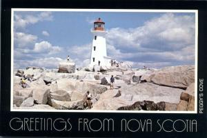 Greetings from Nova Scotia, Canada - Lighthouse at Peggy's Cove