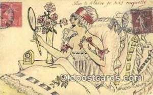 Artist Signed Misc writing on back postal marking on front unknown, writing o...