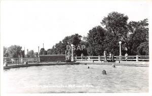 C54/ Mt Mount Pleasant Michigan Mi Real Photo RPPC Postcard 40s Island Park Pool