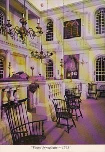 Rhode Island Newport Interior Of Touro Synagogue