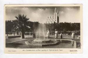 RP  Casablanca, Morocco, Pu-1963  Le Parc Lyautey et l'Eglise du Sacre-Coeur