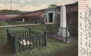 CHARLESTON, South Carolina, 1907; Fort Moultrie and Grave of Oceola the India...