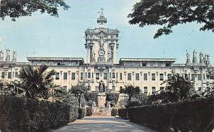 Philippines Old Vintage Antique Post Card University of Santo Thomas 1963