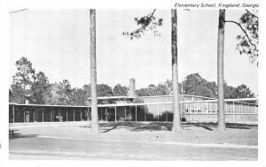 Kingsland Georgia~Elementary School~Tree Trio~1960s B&W Postcard