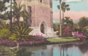 Florida Lake Wales Entrance To The Singing Tower From Across The Moat Handcol...