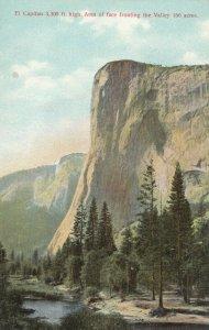 YOSEMITE NATIONAL PARK , California , 1900-10s; El Capitan Rock Facing